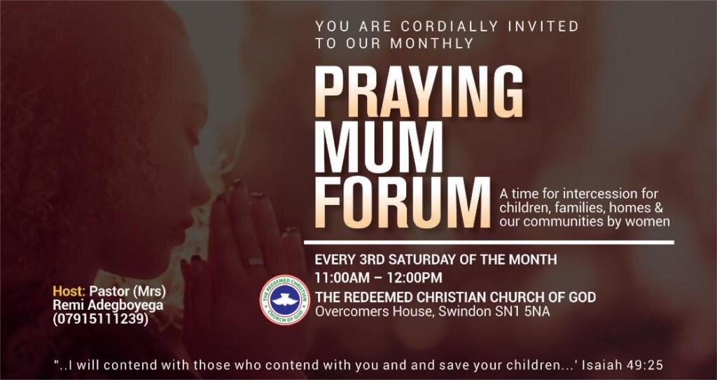 Praying Mums Overcomers House Swindon